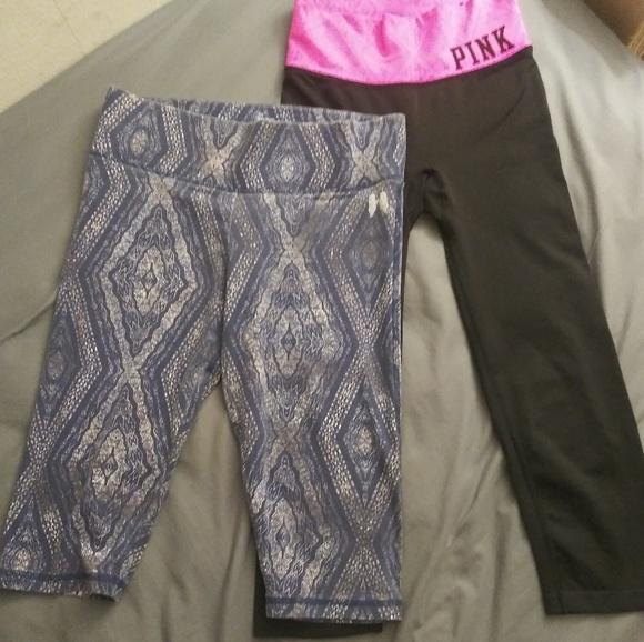 e00b99317ad53 2 Pair VS Athletic Shorts Capri Cropped Yoga Pants
